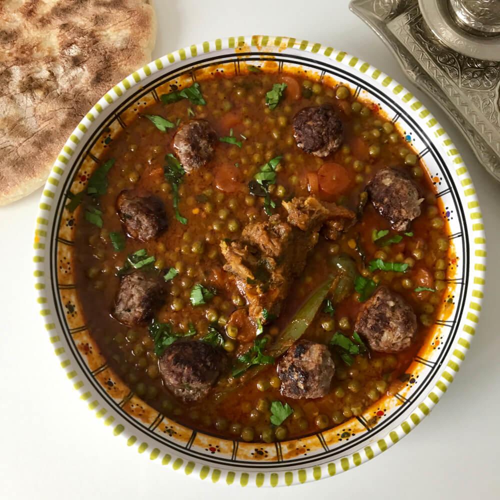 Ragoût de petits pois à la tunisienne (Jelbena)