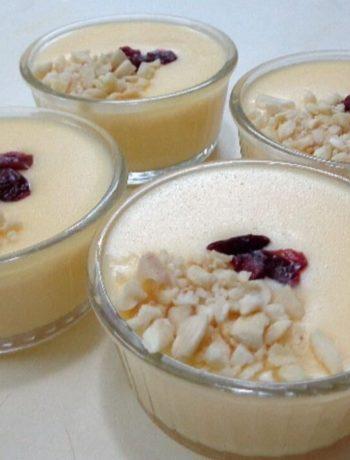 Crème dessert tunisienne